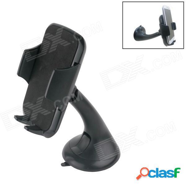 Soporte del soporte del soporte de la ventosa del coche de la rotación de 360 grados para el gps / teléfono móvil - negro