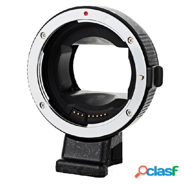 Anillo adaptador de enfoque automático ef-nexii para sony / nex-5 / nex-3 / nex-5n / nex-c3 + más - negro + plata
