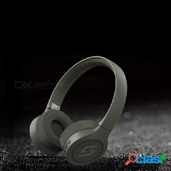 Auriculares bluetooth inalámbricos de la cancelación de ruido activa sc-j10 con el micrófono para los teléfonos verdes