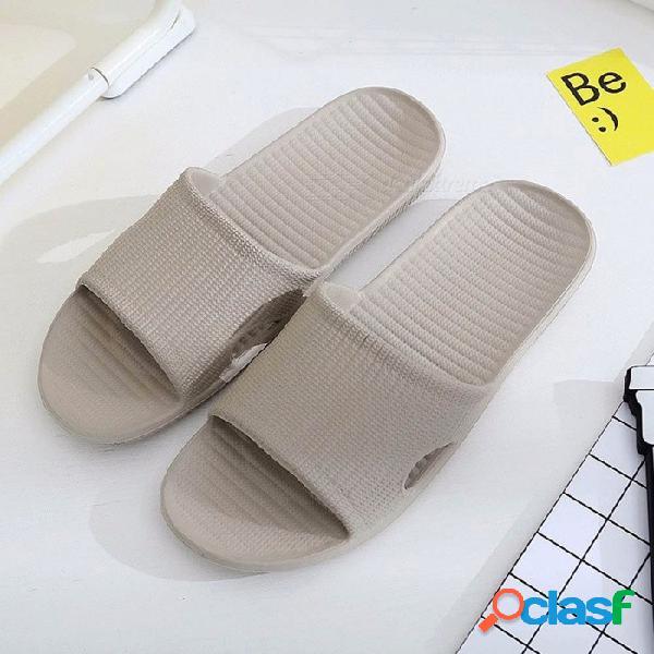 Baño ducha interior casa eva zapatillas antideslizantes suaves sandalias de playa sandalias de verano para hombres gris / 40