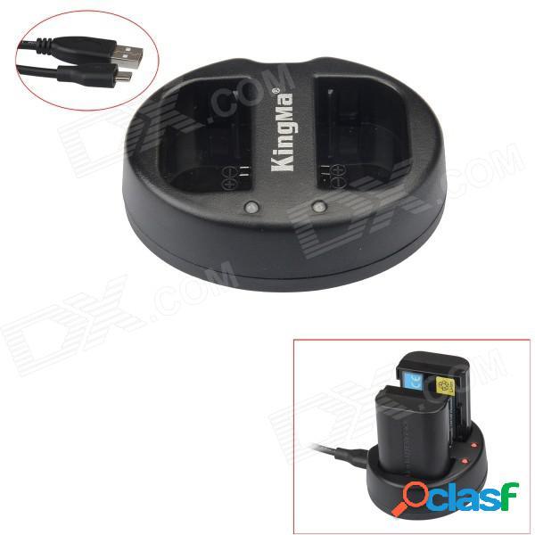 Cargador de batería kingma lp-e6 2-slot usb para canon eos 5d mark iii / 6d / 7d mark ii / 7d / 70d / 60 / 60da
