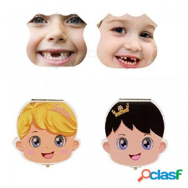 Organizador de caja de dientes de bebé de madera para niños, dientes de leche, almacenamiento de caja de almacenamiento de madera de hoja caduca regalo negro