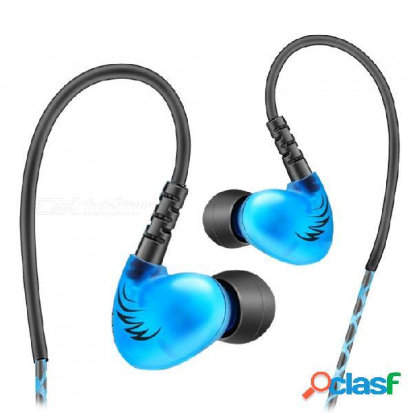 Qkz s6 auriculares deportivos auriculares para teléfonos móviles con micrófono hifi cancelación de ruido auriculares bajos auriculares estéreo de música