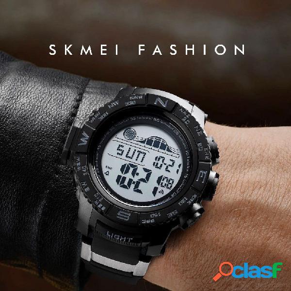 Reloj deportivo para hombre skmei de 56 mm con correa de acero inoxidable, reloj digital impermeable para hombres 1380