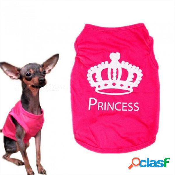 Ropa para mascotas para perro pequeño xs-l moda mascota perro gato princesa linda camiseta ropa chaleco abrigo de verano trajes de poogie rojo