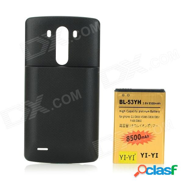 3.8v 7000mah batería de alta capacidad de la batería + batería para lg g3 + bl-53yh + d855 + más - negro