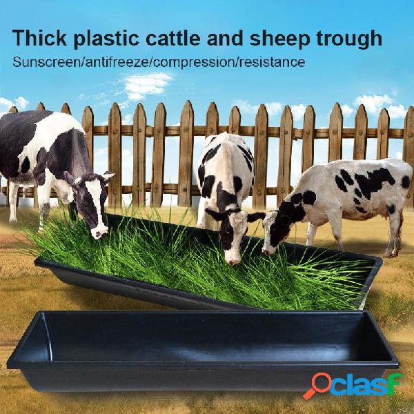 A través de la alimentación de plástico de cabra de vaca espesar forraje tanque granja animales suministros