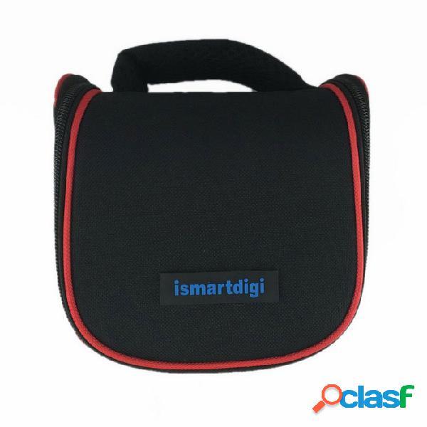 Ismartdigi i204 mini dslr dv cámara de almacenamiento de bolsa para nikon, canon, sony, olympus - negro + rojo