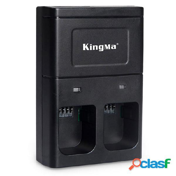 Kingma bm036 cargador de batería de doble ranura para dji osmo cámara de mano 4k gimbal - negro (enchufe de ee. uu.)