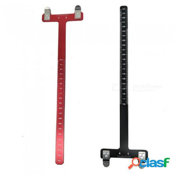 Caza recurvo arco t regla cuadrada acero compuesto arco deportes flecha herramientas caza flecha t regla para 1 pcs rojo