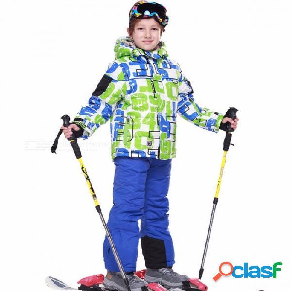Chaqueta de esquí de alta calidad fresca + pantalón de snow traje de piel forro 20 grados traje de esquí niños ropa de invierno para niños xxl / 241911