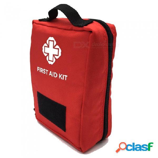 Kit de primeros auxilios de viaje multifuncional al aire libre deportes bolso médico bolso de cintura de almacenamiento de herramientas tácticas - rojo (0.2l)