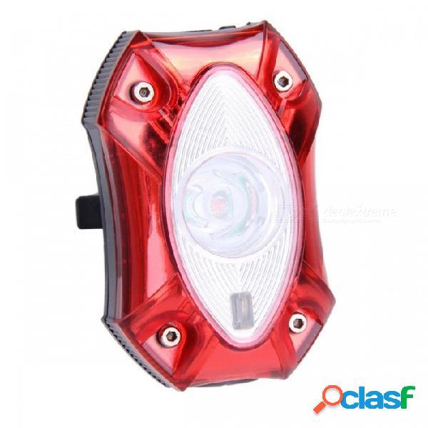 Lluvia resistente a la luz super brillante usb recargable bicicleta trasera luz trasera lámpara de la luz trasera, led de seguridad ciclismo rojo claro