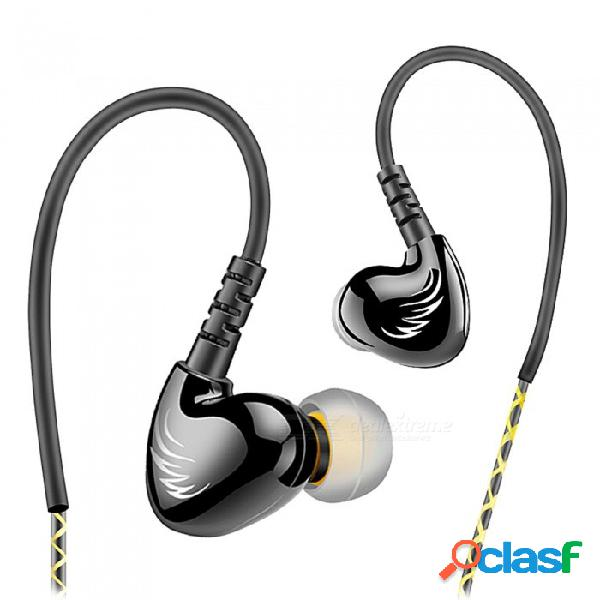 Qkz s6 auriculares deportivos auriculares para teléfono móvil con micrófono hifi cancelación de ruido auriculares bajos auriculares estéreo música - negro