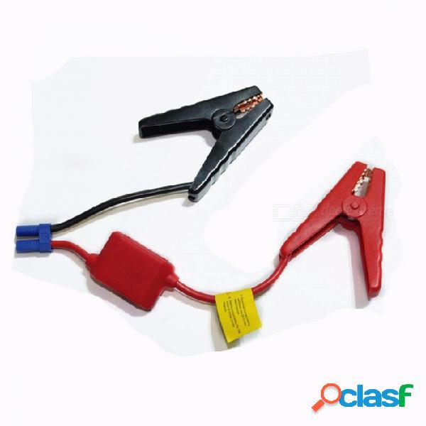 Rojo negro clip de la batería conector de emergencia puente de cable abrazadera abrazadera aumentador de presión de la batería clips para universal 12v arrancador de coche salto rojo