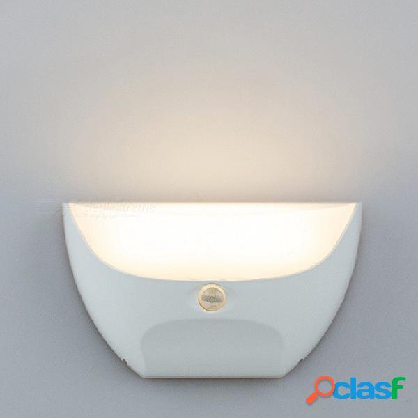 Usb recargable impermeable led corredor luz nocturna cuerpo sensor de movimiento control remoto por infrarrojos luces inteligentes del hogar blanco / blanco