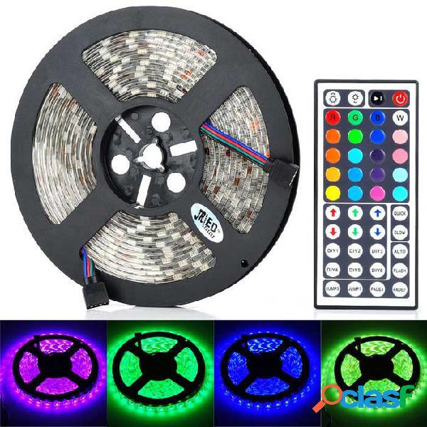 Jrled 60w 4500lm 300-5050 smd tira de luz led rgb con control remoto - transparente (5m / ac 100 ~ 240v)