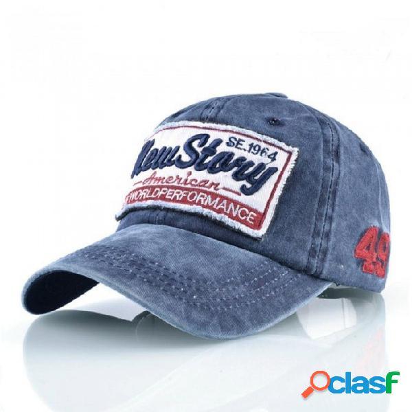 Lavado de mezclilla snapback caps hombre bordado gorras de béisbol de algodón de las mujeres hip hop cap unisex visera de sol sombreros para mujeres hueso rojo