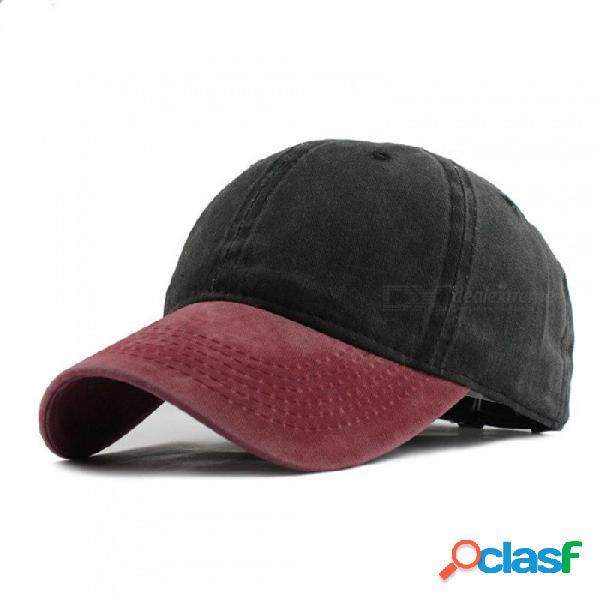 Lavado denim snapback sombreros otoño verano hombres mujeres gorra de béisbol golf bloqueador solar beisbol casquette hockey tapas ajustables