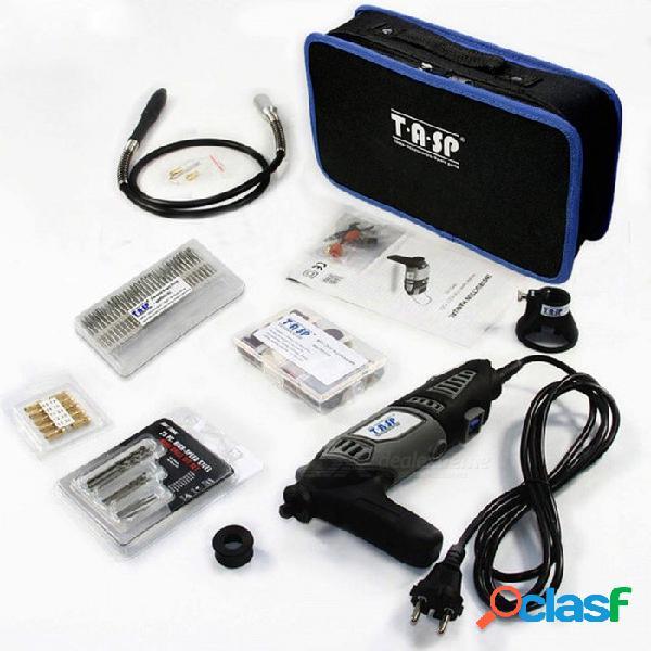 Tasp portátil durable 220v 170w rotativo conjunto de herramientas, mini kit de taladro eléctrico con accesorios y caja de almacenamiento eu / 175pc set storagebag