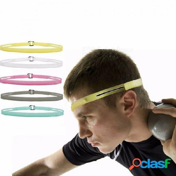 banda elástica elástica delgada, banda de sudor ajustable de silicona suave de 3 modos para hombre mujer, banda de tenis de fitness transparente