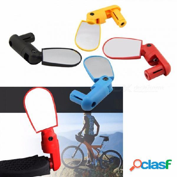 Bicicleta ajustable bicicleta de ciclismo espejo retrovisor accesorios de bicicleta de montaña espejo plano reflector negro