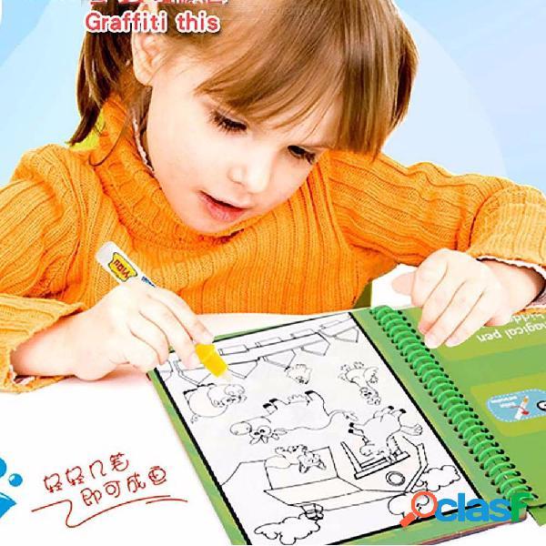 Dibujos animados de animales / vehículos libro para colorear para niños, reutilizables para colorear para niños