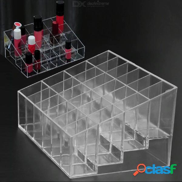 24 grid acrylic makeup organizer storage cosmetic box lipstick jewelry box case holder display stand