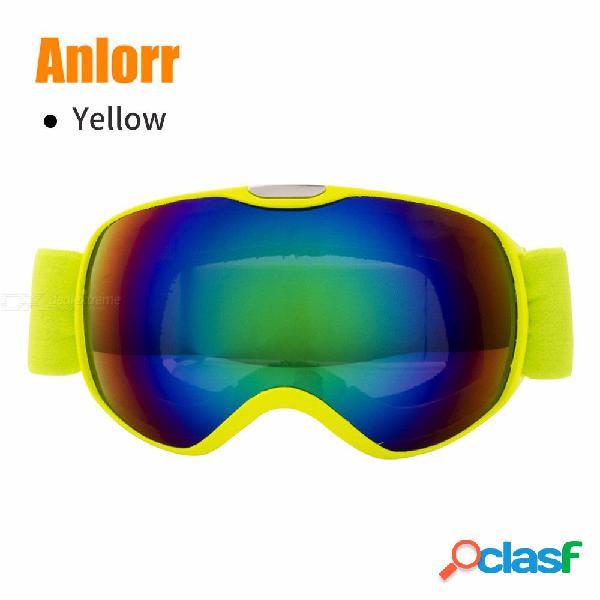 Professional children snowboard goggles kids eyewear anti-fog snow glasses skiing protection goggles