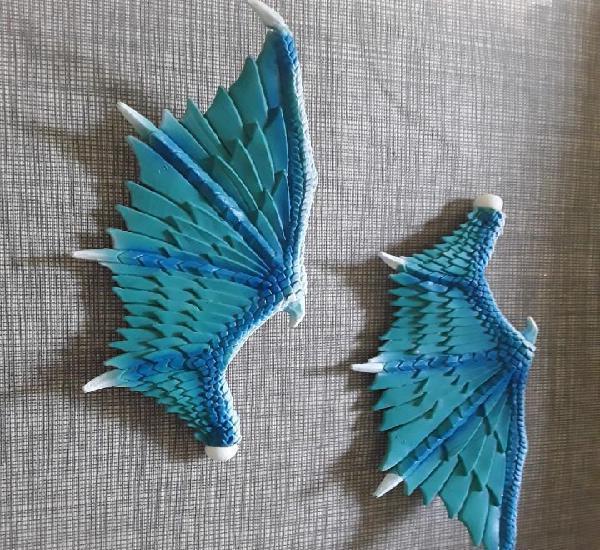 Alas de dragon de pvc color azul