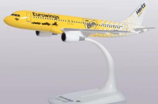 Avión a320 eurowings herpa 1:200