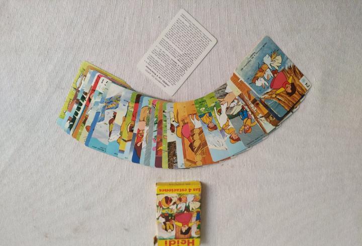 Cartas de juego heidi las cuatro estaciones