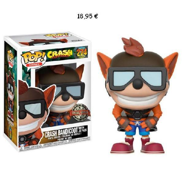 Funko pop! crash bandicoot with jet pack exclusive funko