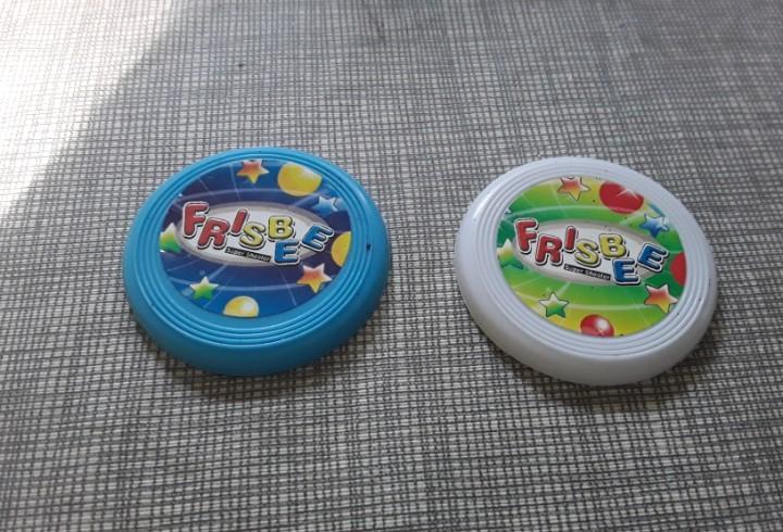 Frisbee dos unidades de miniatura de pvc