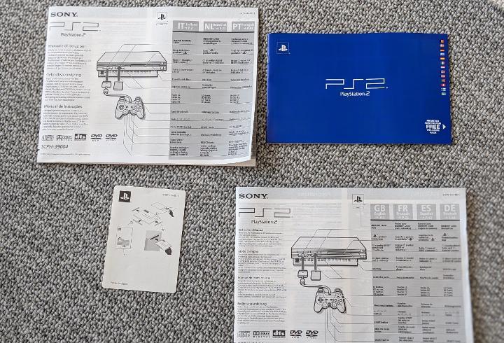 Instrucciones ps2 playstation 2 sony