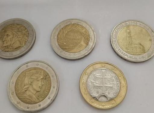 Lote monedas de 2 y 1euro