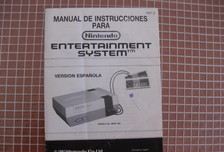 Nes manual de instrucciones consola nintendo esp 2 pal