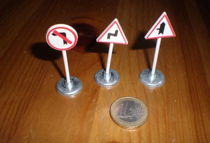 Señales de tráfico para joal,lote de tres