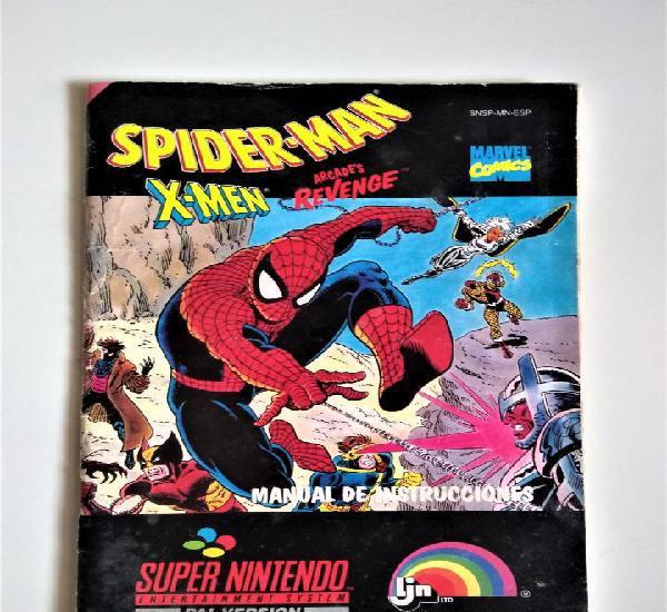 Spiderman, x-men arcade´s revenge | manual de instrucciones