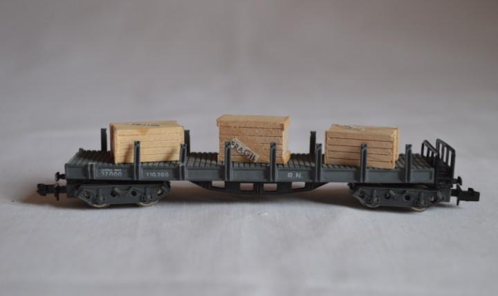 Vagón de mercancías abierto. escala. n. ibertren.