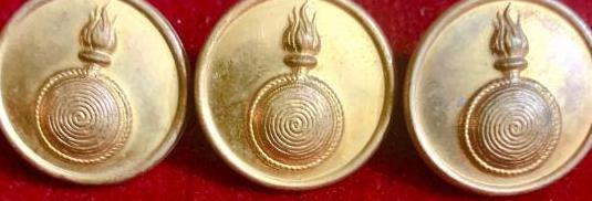 Ii republica, 3 botones bañados en oro