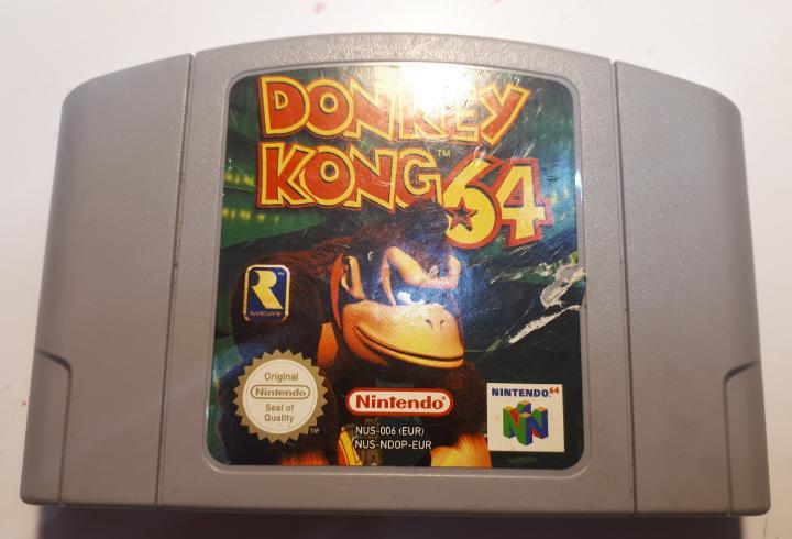 Juego original de nintendo 64 donkey kong 64