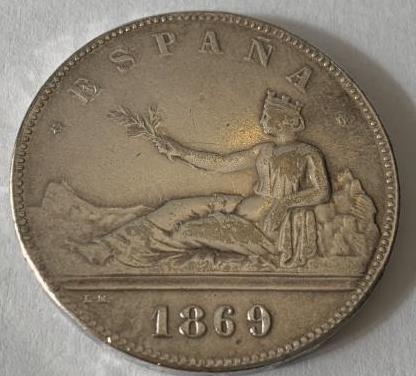 Moneda de plata de 1869