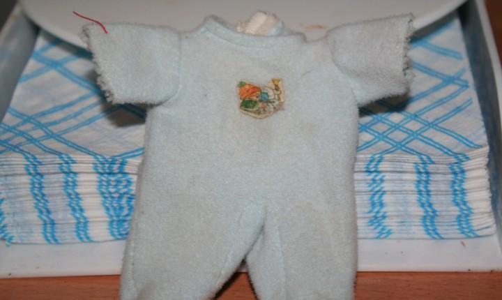Pelele azul original muñeco muñeca barriguitas