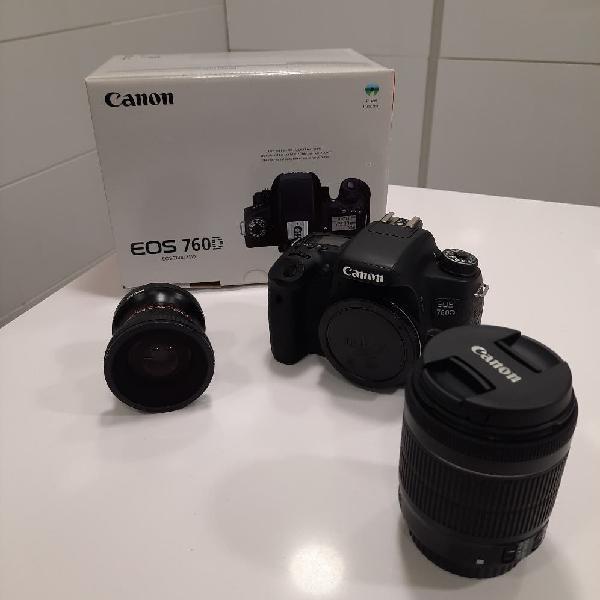 Cámara canon video/foto.ojo de pez y objetivo zoom