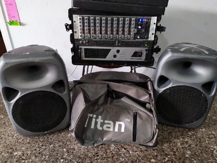 Equipo de sonido.