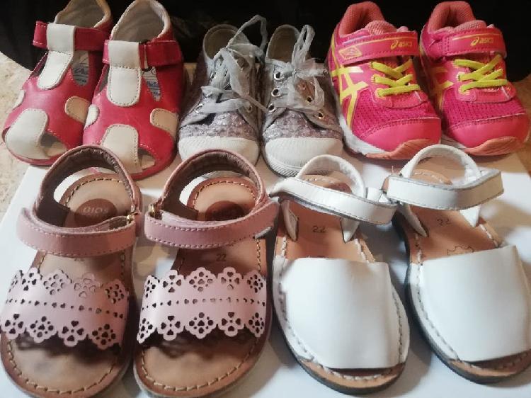 Lote zapatos niña n 22