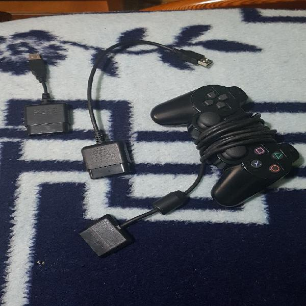 Mando ps2 con adaptadores