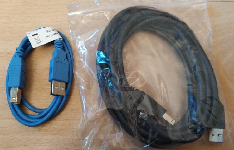 Pack de 2 cables usb tipo a a tipo b macho