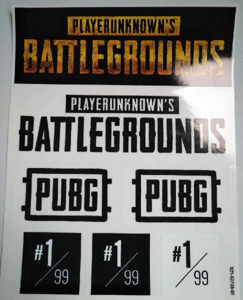 Pegatinas pubg playerunknow's battlegrounds y caja
